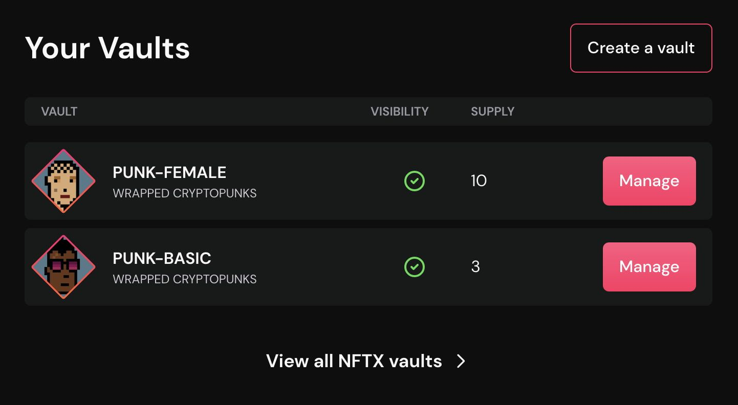 NFTX Launches New Vault Creation Interface